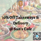 10% off takeaways and delivery suns cafe promo