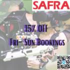 15% OFF Fri-Sun Bookings