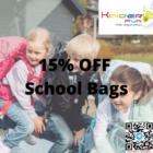 15% OFF School Bags Promo
