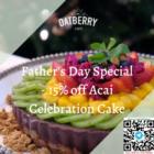 15% off acai fathers day cake promo