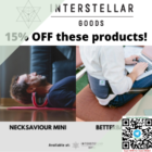 15% off back and neck relief interstellar goods promo