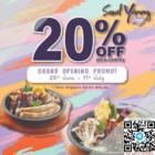20% OFF ala carte items