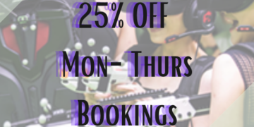 25% OFF Mon-Thurs Bookings