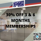 30% OFF 3 & 6 MONTHS MEMBERSHIPS