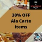 30% OFF Ala Carte Items Promo