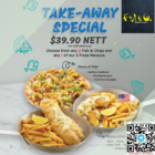 $39.90 for 2 fish & chips & 1 pizza promo