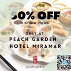 50% off dim sum items peach garden promo