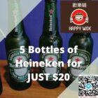 Happy Wok Heineken Bottles 5 for $20