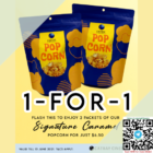 cathay 1 for 1 caramel popcorn packet promo