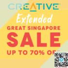 creative gss 70% off promo