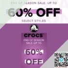 crocs 60% off end of season sale promo