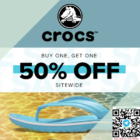 crocs buy one get 50% off another promo