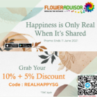 floweradvisor 10 + 5 discount promo