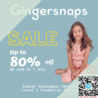 gingersnaps isetan up to 80 off promo