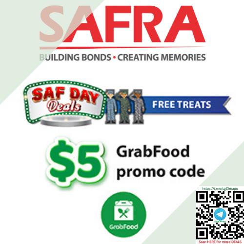 safra saf day nsmen $5 off grabfood code promo