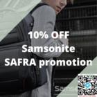samsonite 10% off safra promo