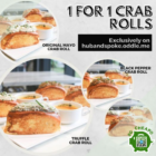 1-FOR-1 Crab Rolls