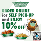 10% OFF self pick-up @ wingstop