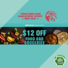 $12 OFF Food & Groceries