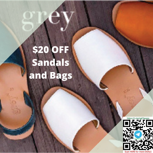 $20 OFF Sandals and Bags grey by orthenhill promo