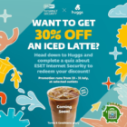 30% OFF iced latte