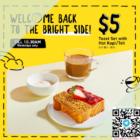 $5 toast kopi teh butter bean promo
