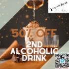 50 off koi signature 2nd alcoholic drink july promo