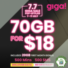 70GB for $18