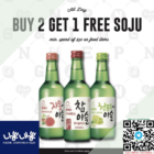 Buy 2 Get 1 FREE Soju