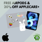 FREE AirPods + 20% OFF