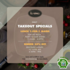 Lunch 1-FOR-1 Special