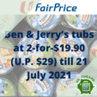 ben and jerrys 2 for 19.90 july promo