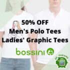 bossini 50 off mens polo ladies graphic tees july