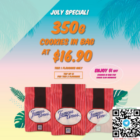 famous amos 350g cookies for 16.90 promo