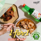 gudsht 1 for 1 soju curry meal july promo
