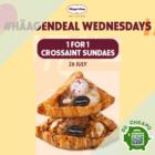 haagen dazs 1 for 1 croissant sundaes july promo