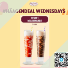 haagen dazs 1 for 1 milkshakes july promo
