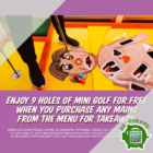 holey moley free 9 mini golf holes takeaway promo