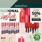 innisfree 50% off makeup national lipstick day july promo