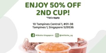 milksha 50 off 2nd cup tampines promo