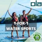 ola beach club 1 for 1 water sports july promo
