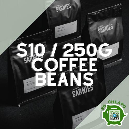 sarnies 10 250g coffee beans july