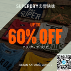 superdry isetan up to 60% off july promo