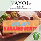 yayoi 20 off karaage bento promo