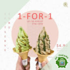 108 matcha saro 1 for 1 soft serve aug promo