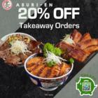 20% OFF TAKEAWAY ORDERS