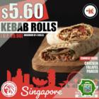 $5.60 Kebab Rolls
