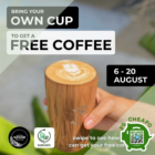 Bring your Own Cup & Get Free Coffee