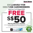 Harvey Norman FREE $50 Harvey Norman voucher