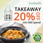 Joyden - 20% OFF Takeaway - sgCheapo